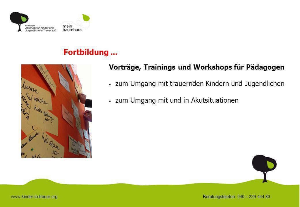 Fortbildung ... Vorträge, Trainings und Workshops für Pädagogen