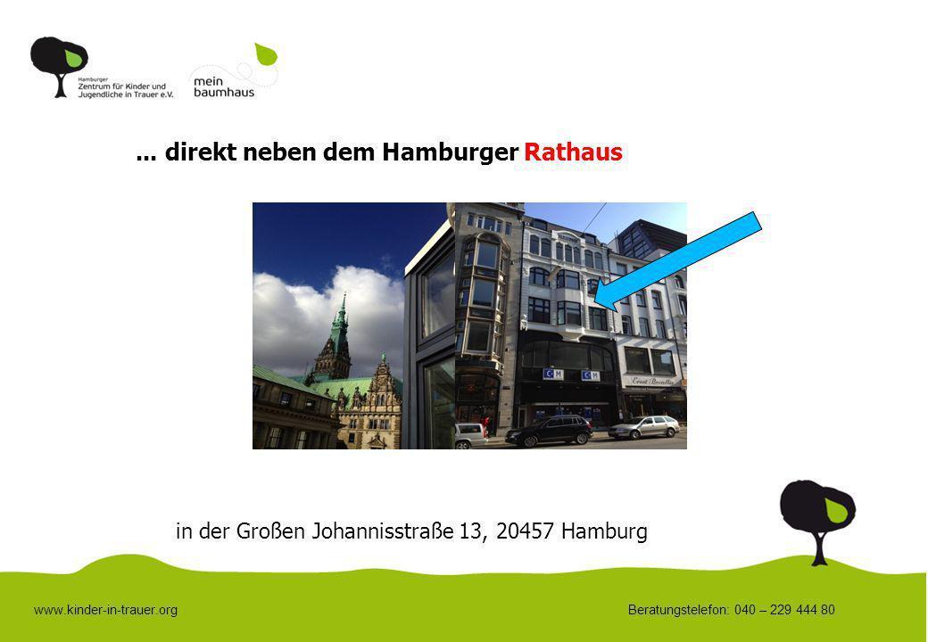 ... direkt neben dem Hamburger Rathaus