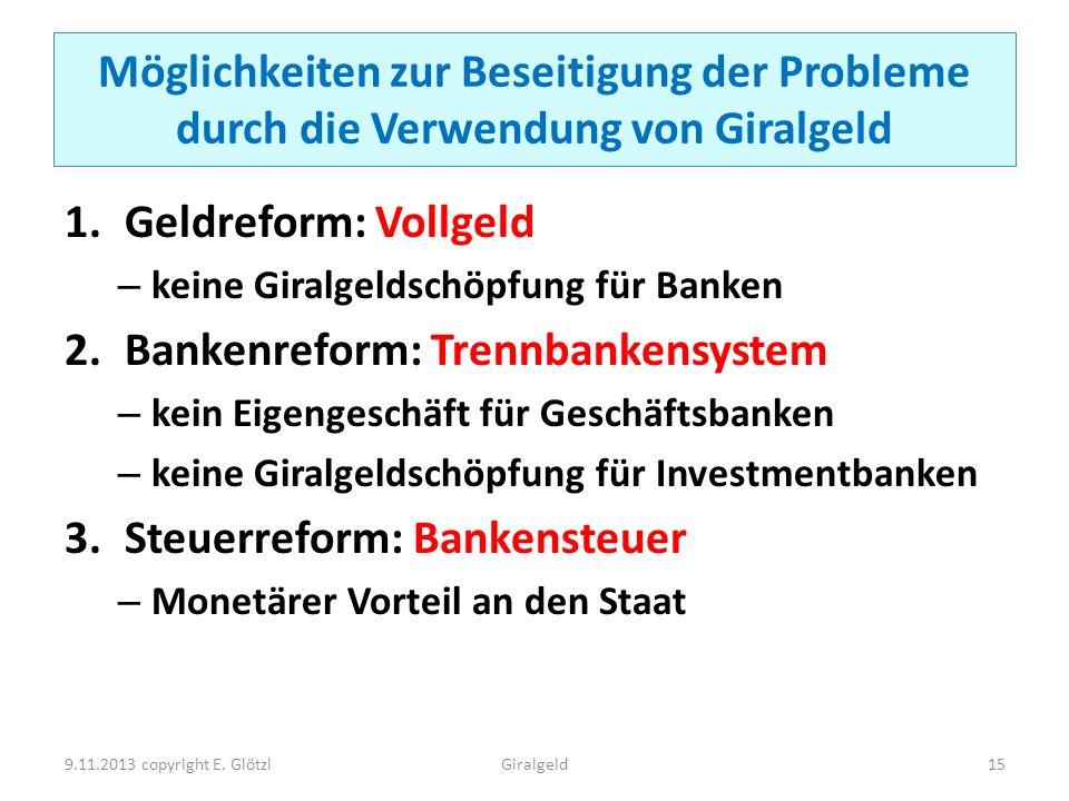 Bankenreform: Trennbankensystem