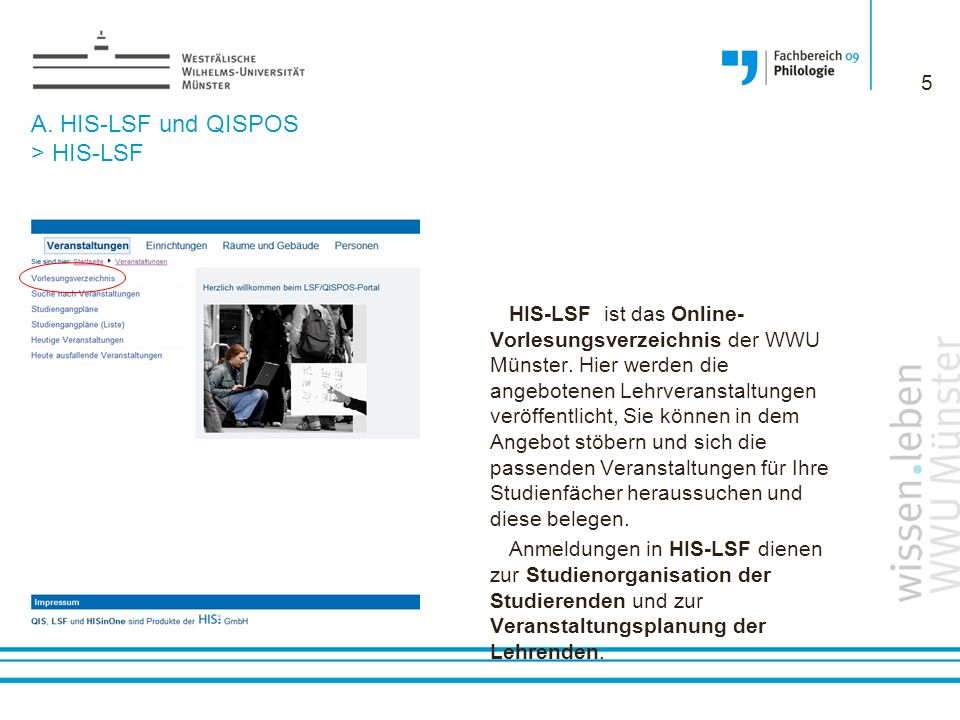 A. HIS-LSF und QISPOS > HIS-LSF