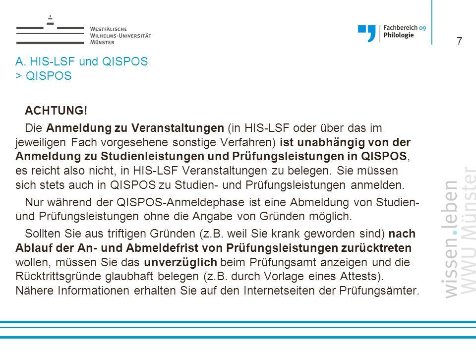 A. HIS-LSF und QISPOS > QISPOS