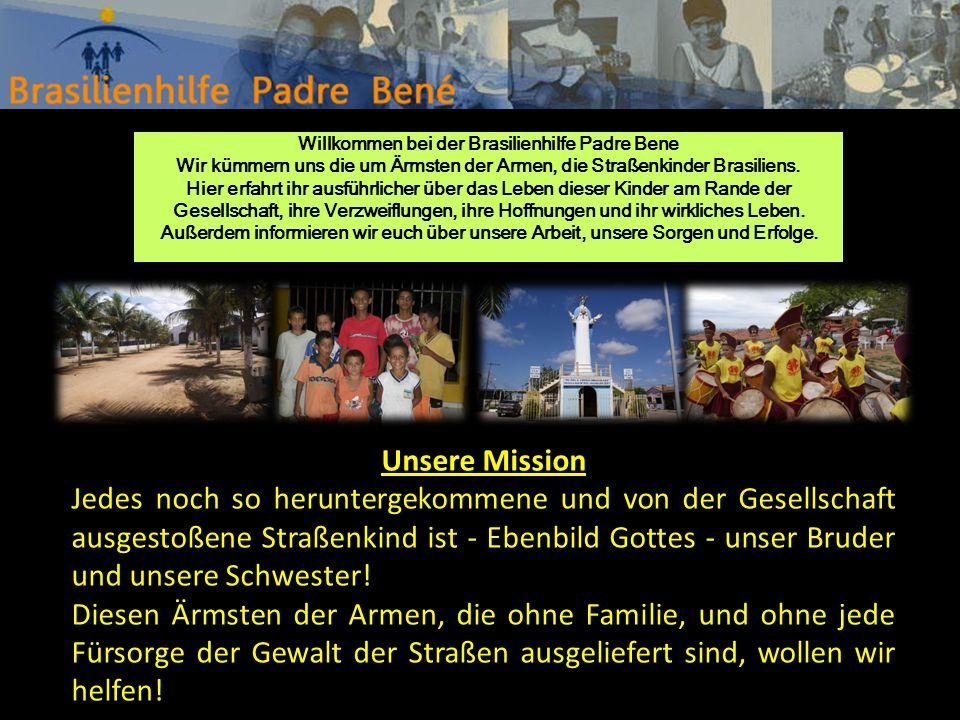 Willkommen bei der Brasilienhilfe Padre Bene