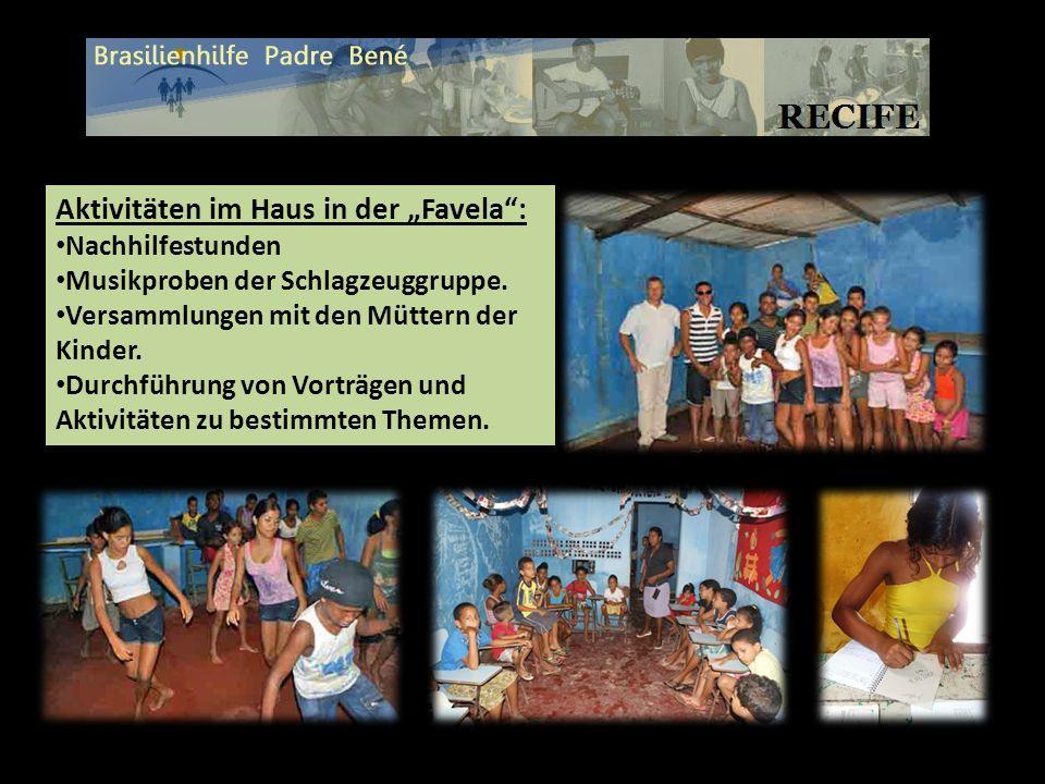 """Aktivitäten im Haus in der """"Favela :"""