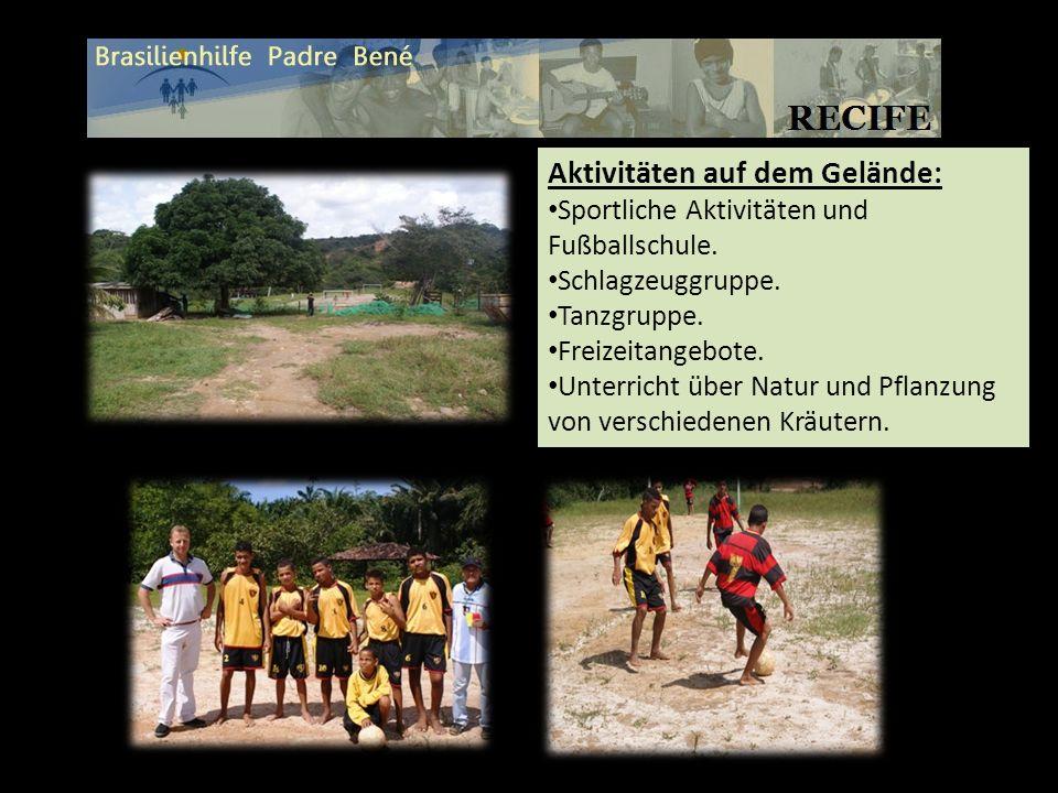 Aktivitäten auf dem Gelände: