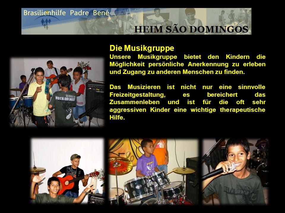 Die Musikgruppe Unsere Musikgruppe bietet den Kindern die Möglichkeit persönliche Anerkennung zu erleben und Zugang zu anderen Menschen zu finden.