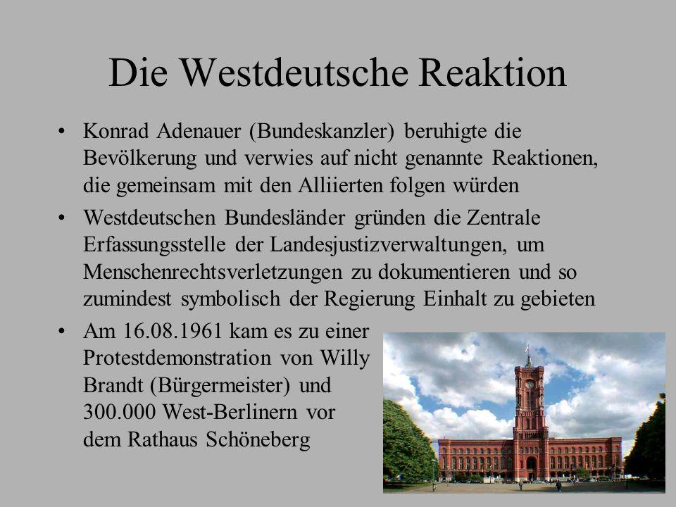 Die Westdeutsche Reaktion