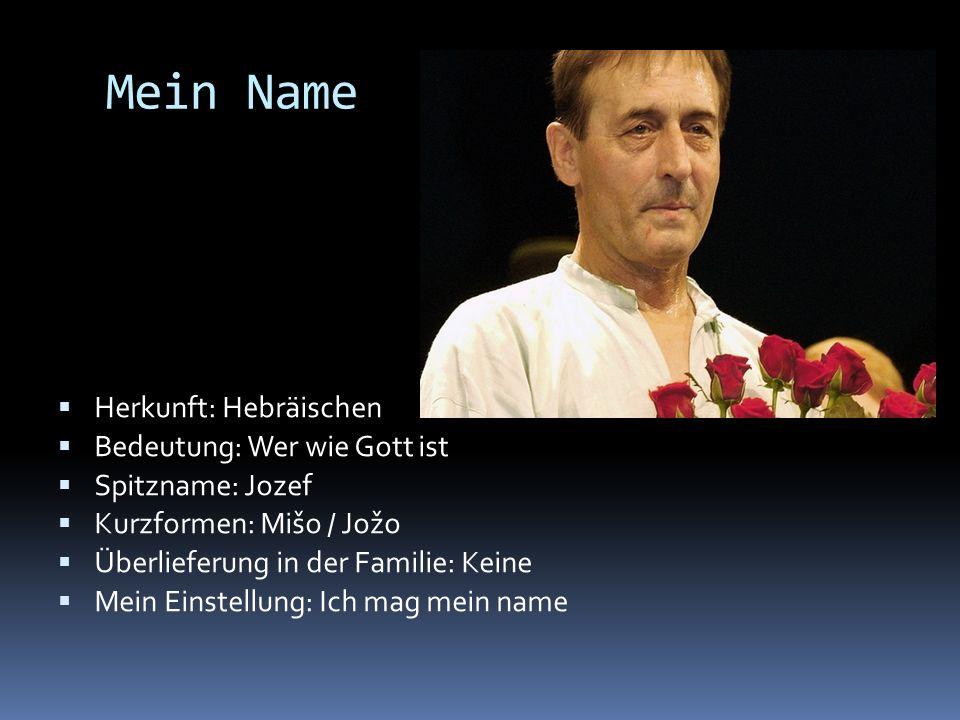 Mein Name Herkunft: Hebräischen Bedeutung: Wer wie Gott ist