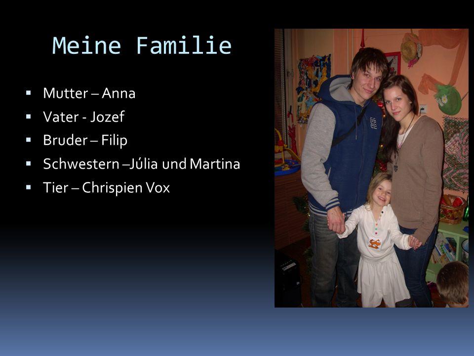 Meine Familie Mutter – Anna Vater - Jozef Bruder – Filip