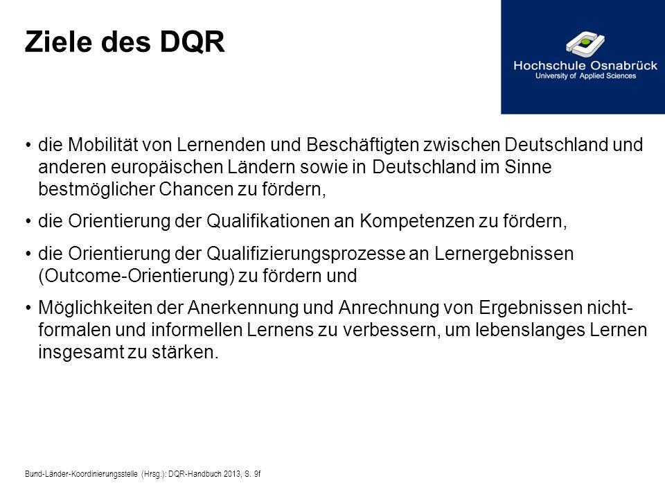Ziele des DQR