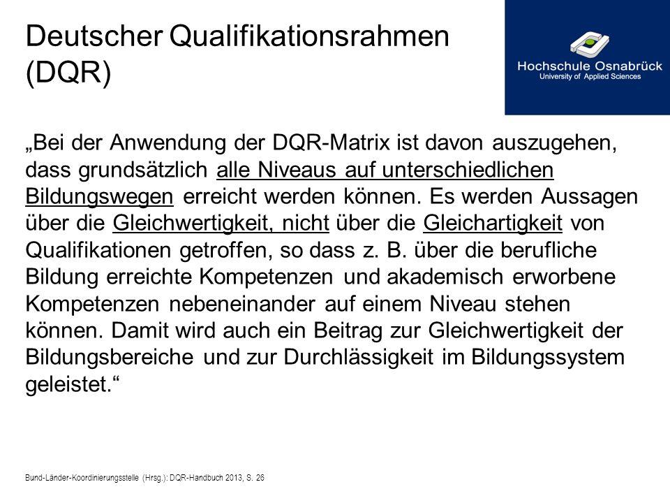 Deutscher Qualifikationsrahmen (DQR)