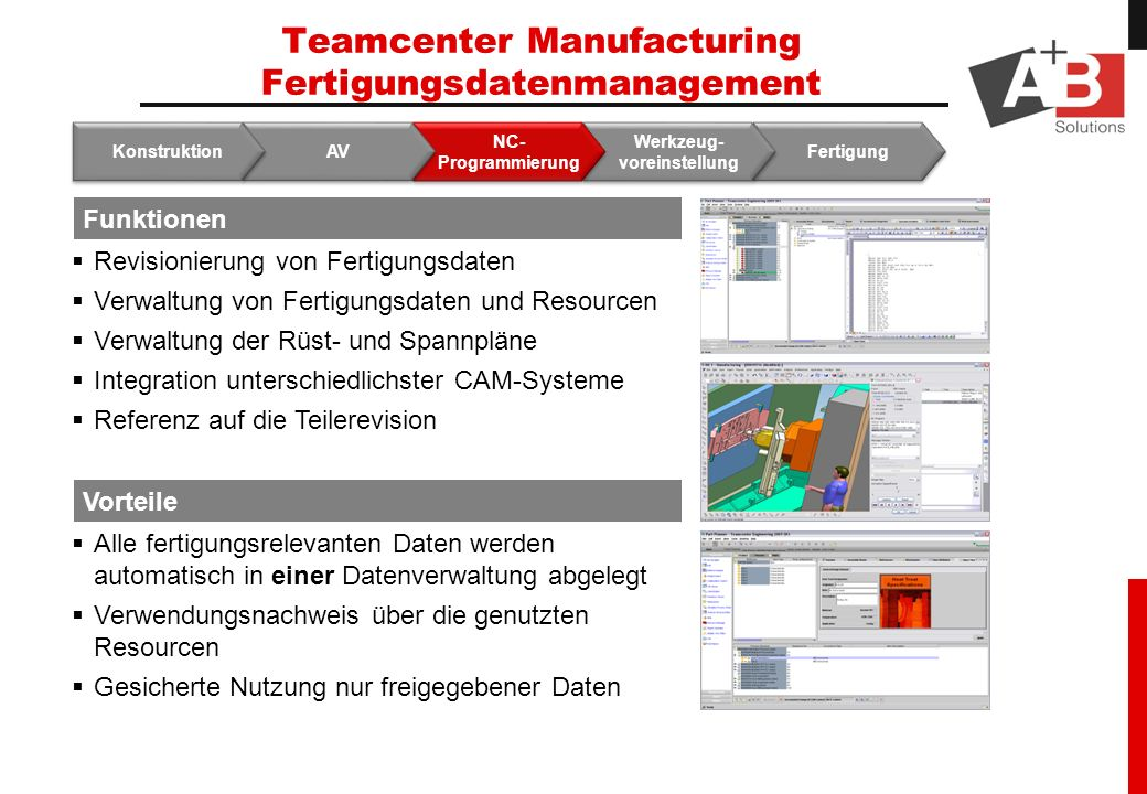 Teamcenter Manufacturing Fertigungsdatenmanagement