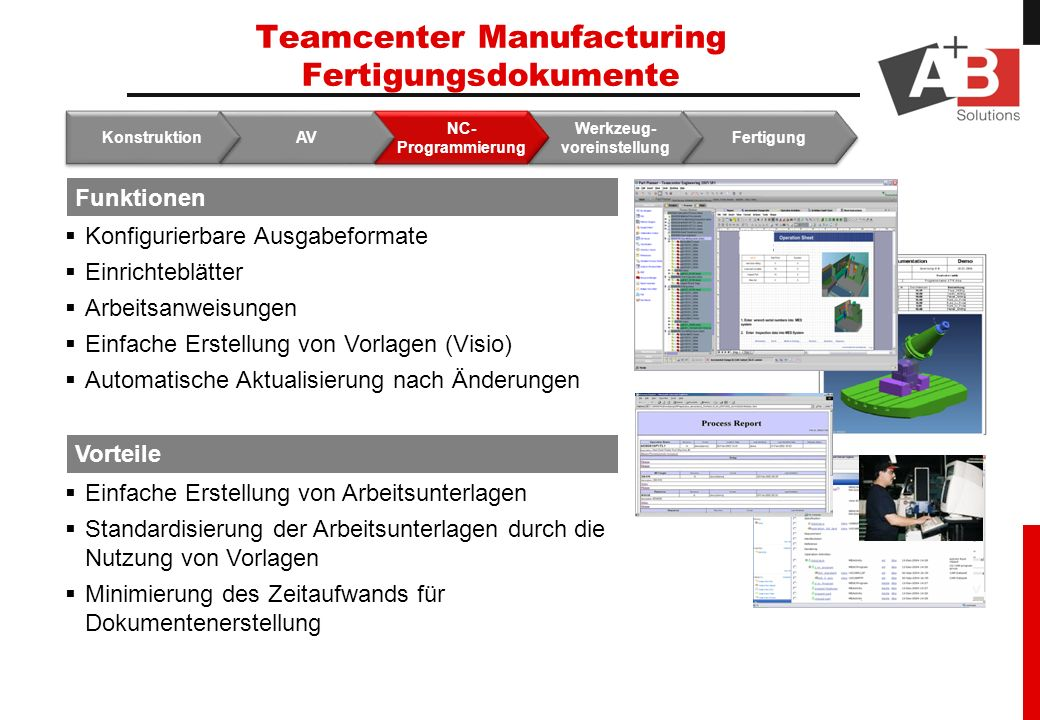 Teamcenter Manufacturing Fertigungsdokumente