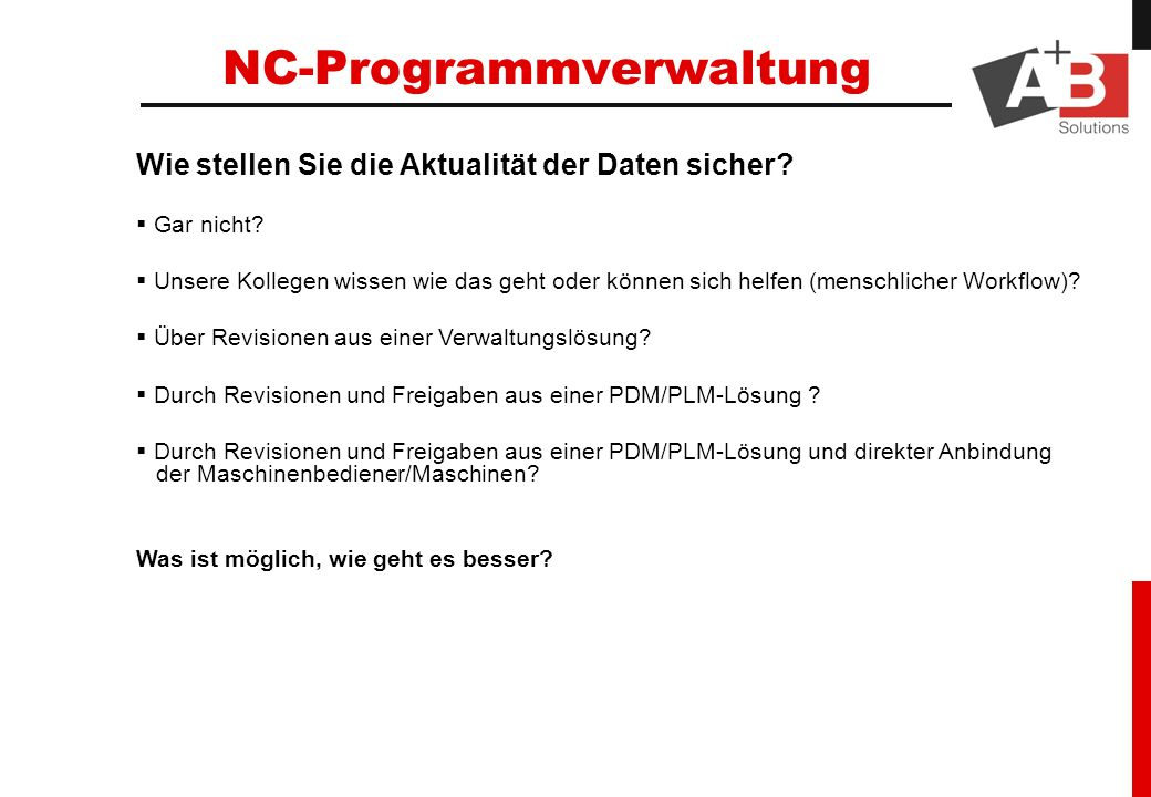 NC-Programmverwaltung