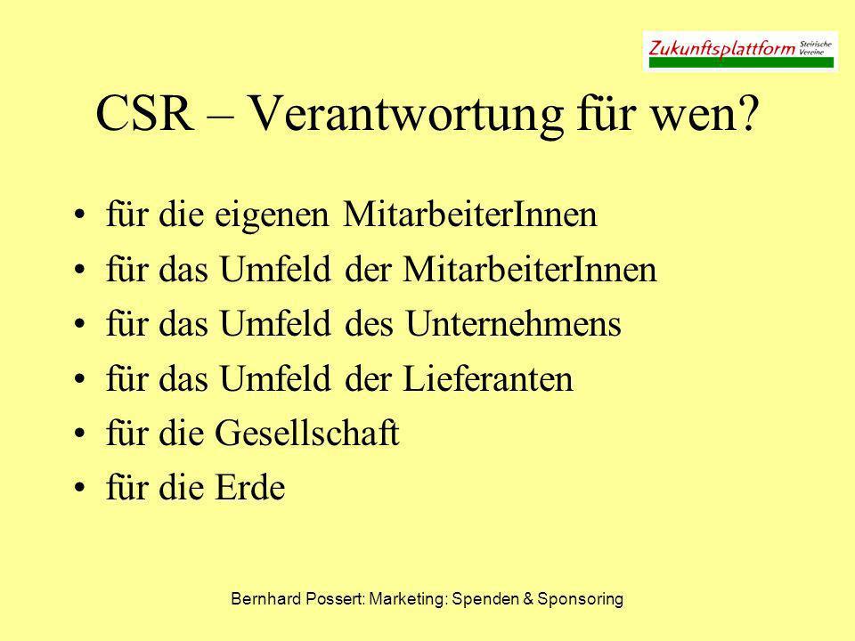 CSR – Verantwortung für wen