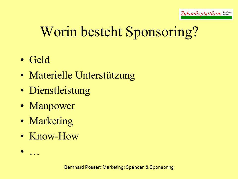 Worin besteht Sponsoring