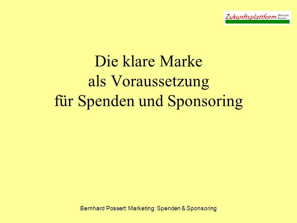 Die klare Marke als Voraussetzung für Spenden und Sponsoring