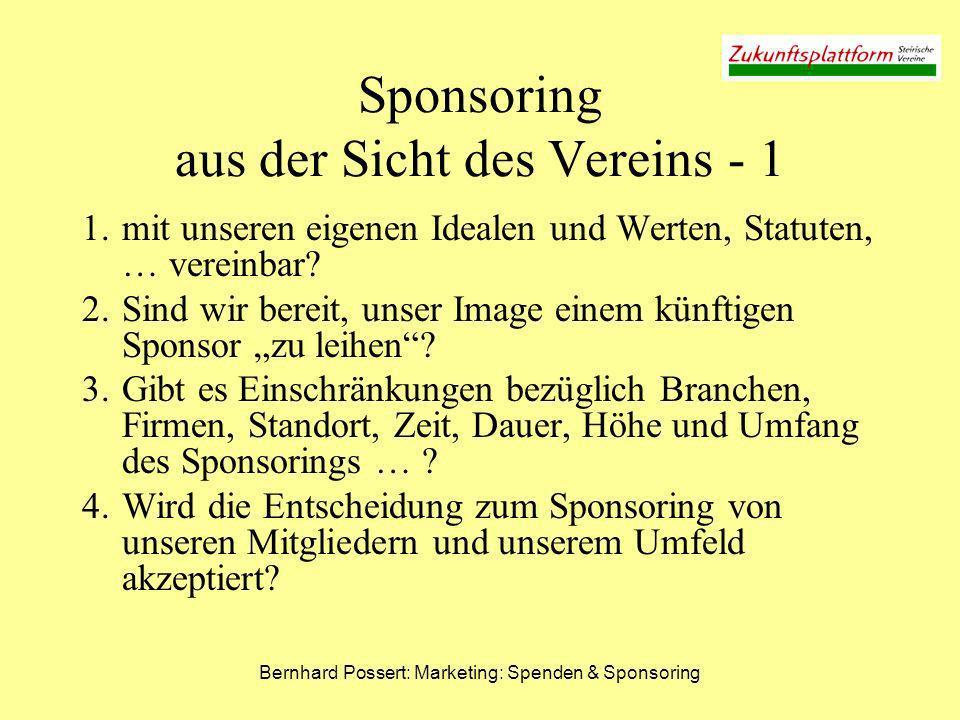 Sponsoring aus der Sicht des Vereins - 1