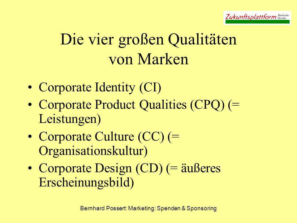 Die vier großen Qualitäten von Marken
