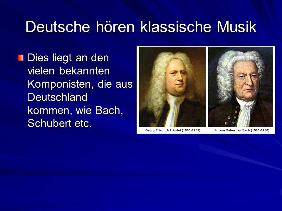 Deutsche hören klassische Musik