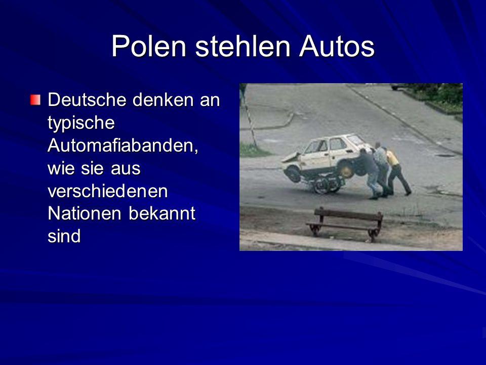 Polen stehlen Autos Deutsche denken an typische Automafiabanden, wie sie aus verschiedenen Nationen bekannt sind.