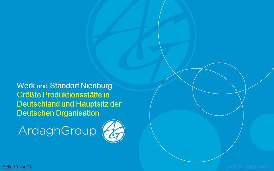 Werk und Standort Nienburg Größte Produktionsstätte in Deutschland und Hauptsitz der Deutschen Organisation