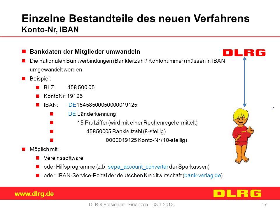 DLRG-Präsidium - Finanzen - 03.1-2013