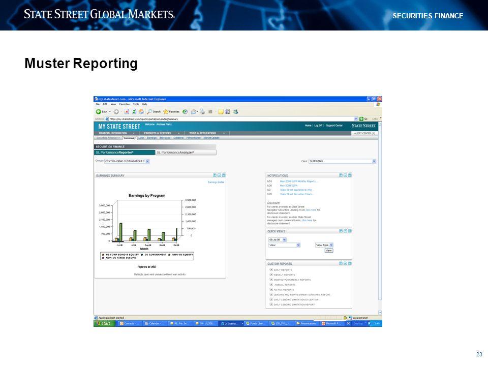 Muster Reporting