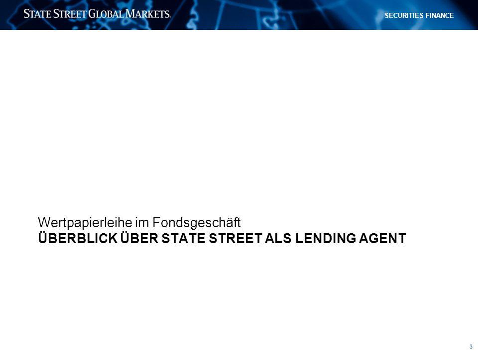 Überblick über State Street als Lending Agent