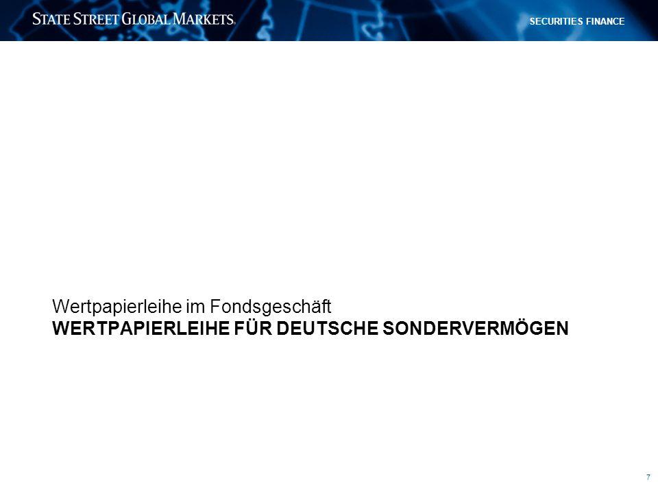 Wertpapierleihe für deutsche sondervermögen