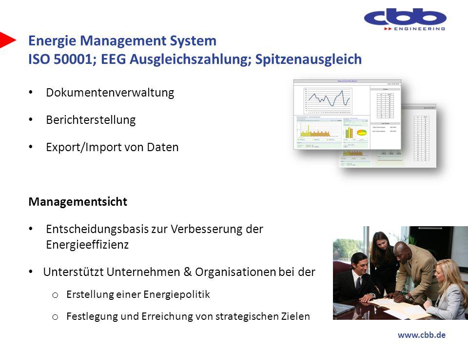 Energie Management System ISO 50001; EEG Ausgleichszahlung; Spitzenausgleich