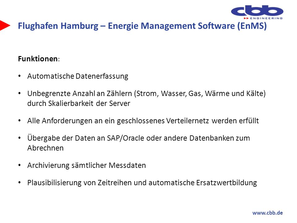 Flughafen Hamburg – Energie Management Software (EnMS)