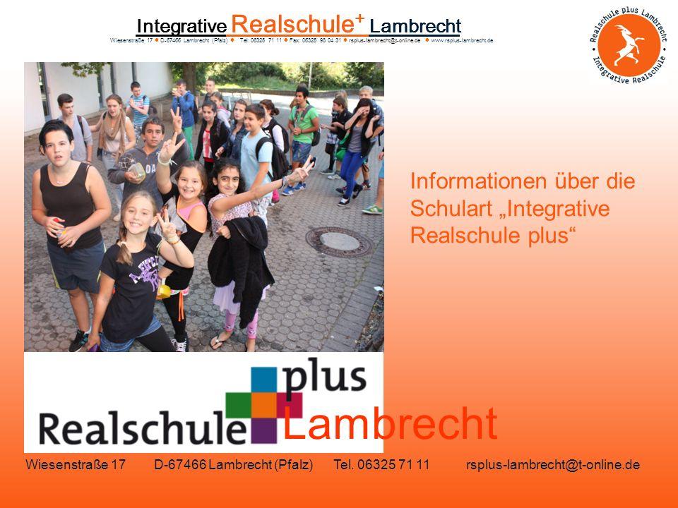 """Informationen über die Schulart """"Integrative Realschule plus"""
