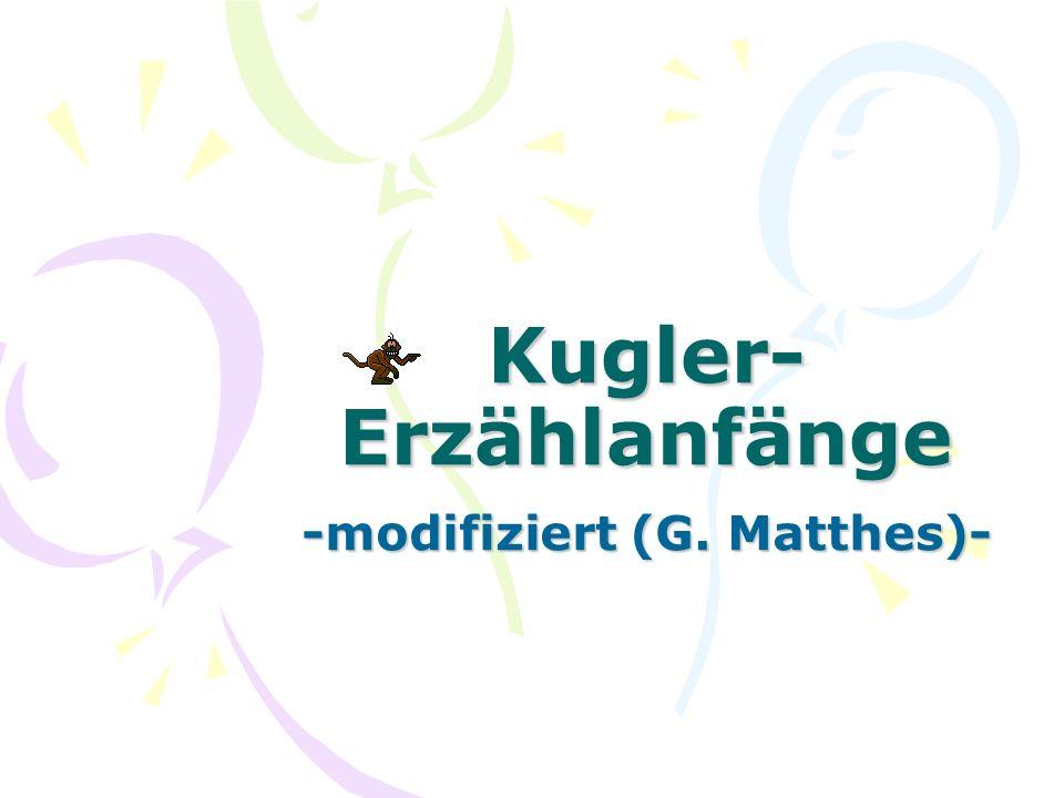 Kugler-Erzählanfänge