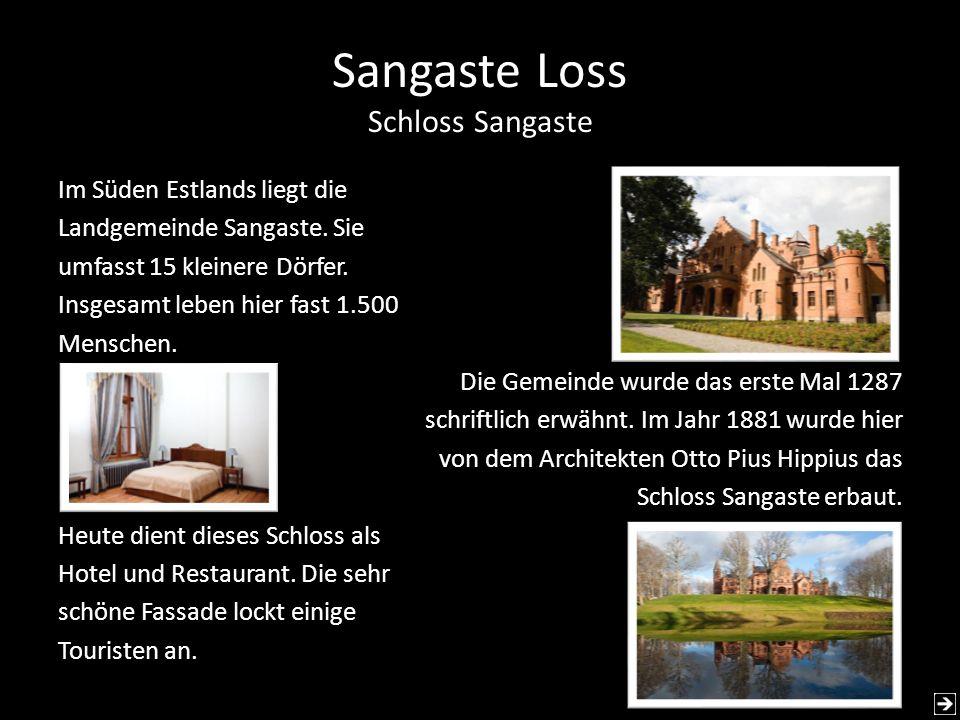 Sangaste Loss Schloss Sangaste
