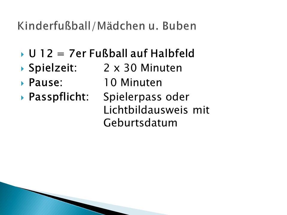 Kinderfußball/Mädchen u. Buben