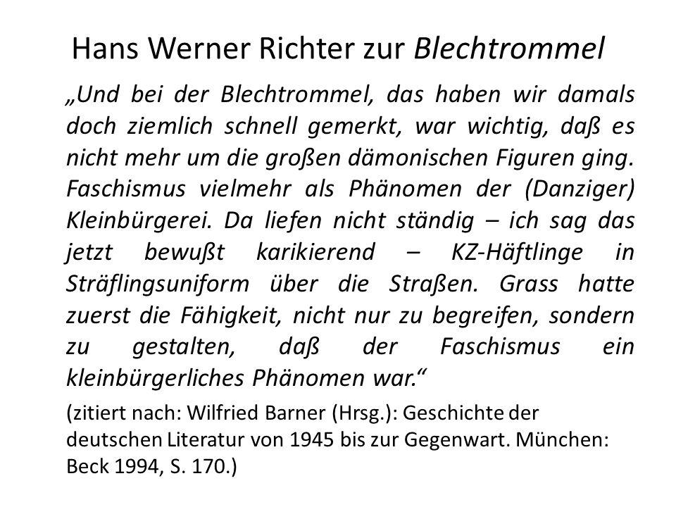 Hans Werner Richter zur Blechtrommel