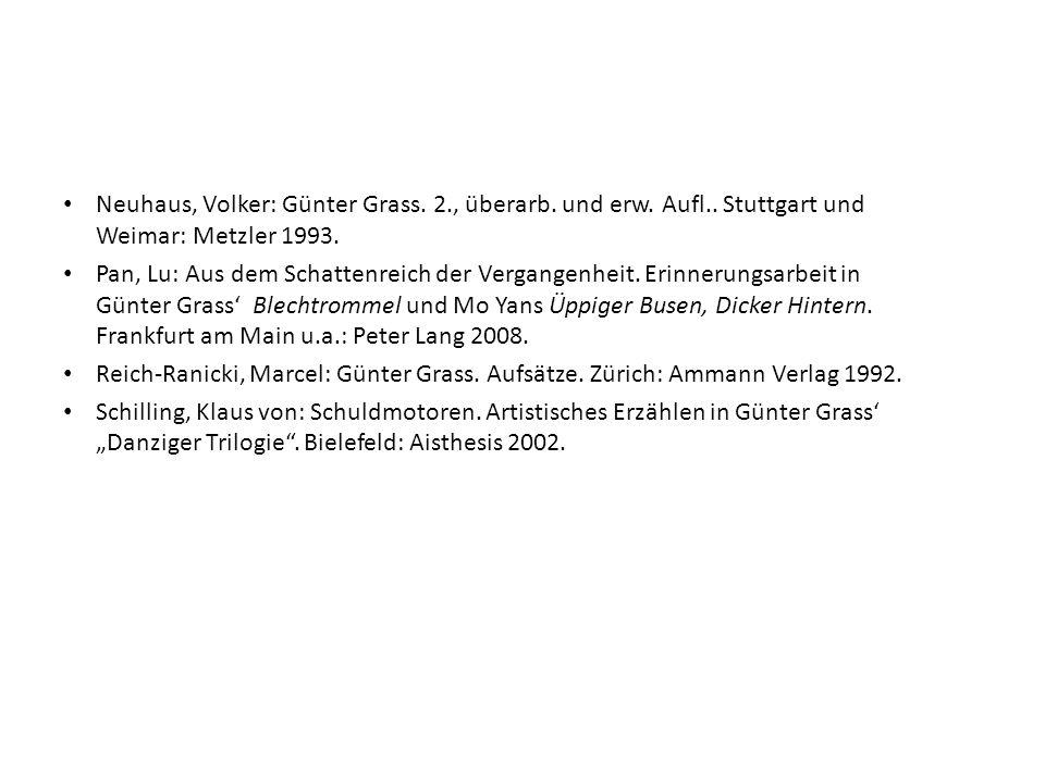 Neuhaus, Volker: Günter Grass. 2. , überarb. und erw. Aufl