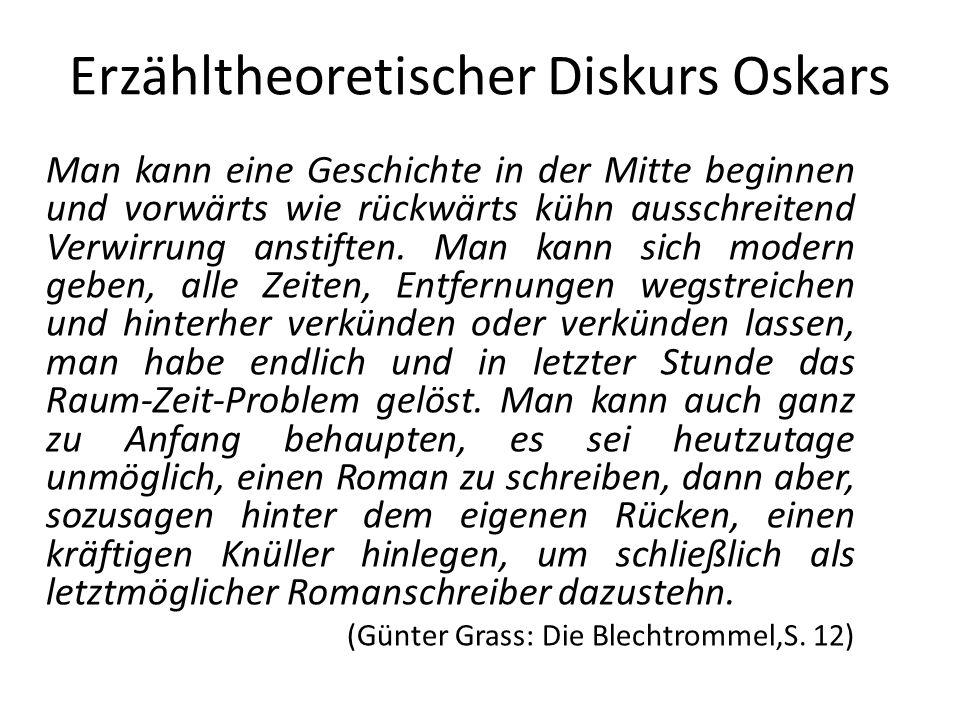 Erzähltheoretischer Diskurs Oskars