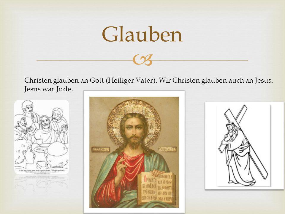 Glauben Christen glauben an Gott (Heiliger Vater).