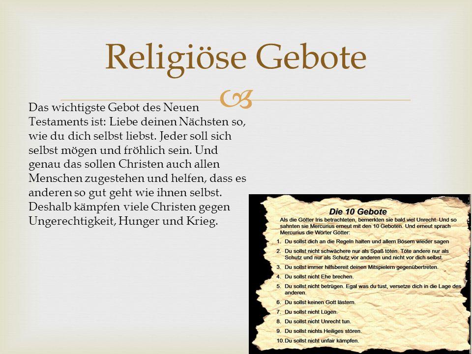 Religiöse Gebote