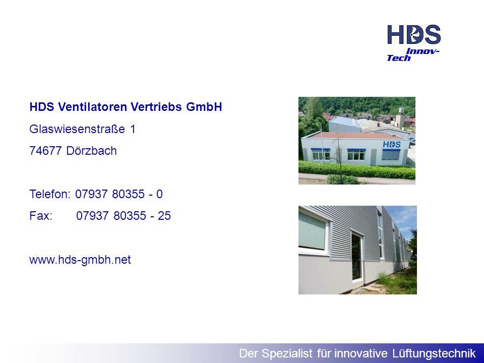 HDS Ventilatoren Vertriebs GmbH