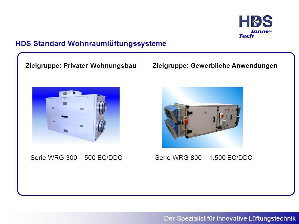 HDS Standard Wohnraumlüftungssysteme