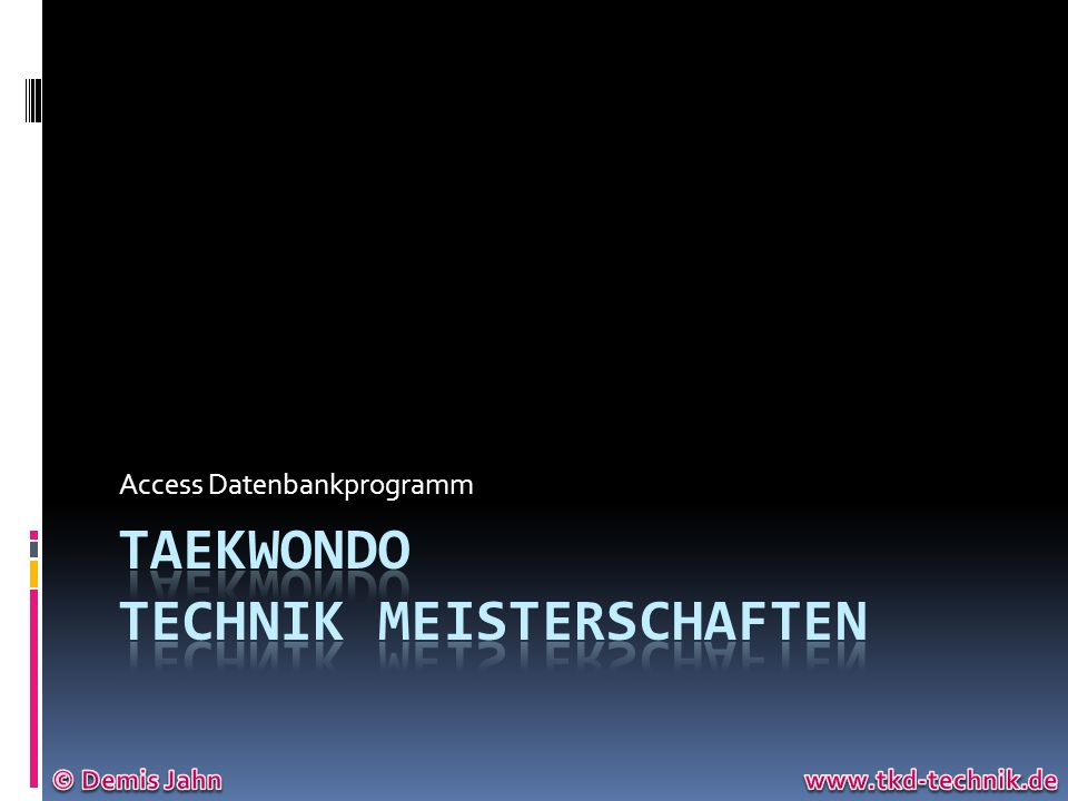 Taekwondo Technik Meisterschaften