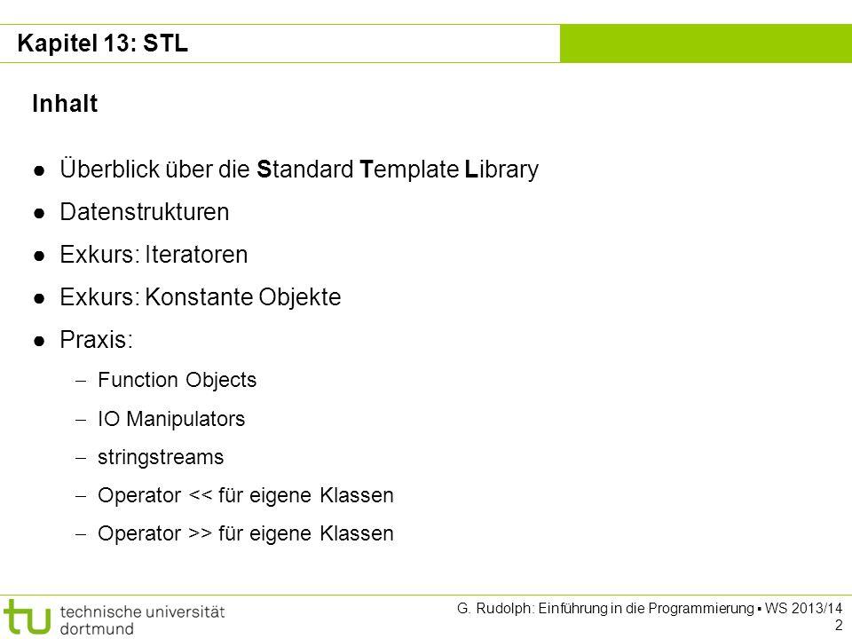 Überblick über die Standard Template Library Datenstrukturen