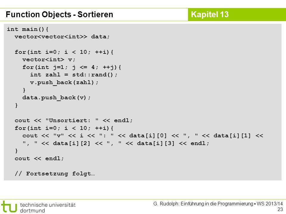 Function Objects - Sortieren