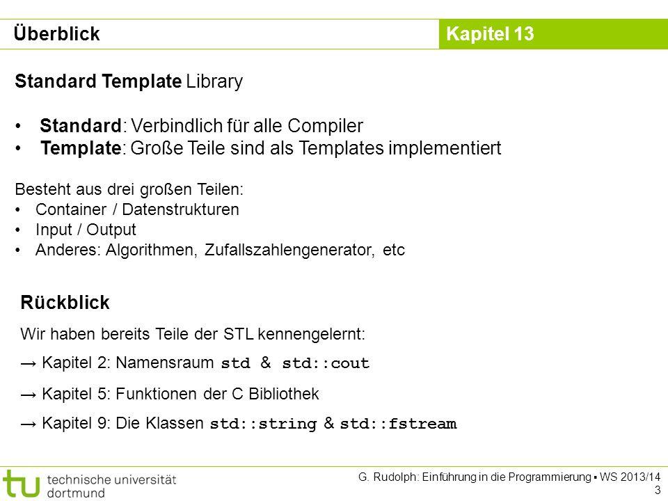 Standard Template Library Standard: Verbindlich für alle Compiler