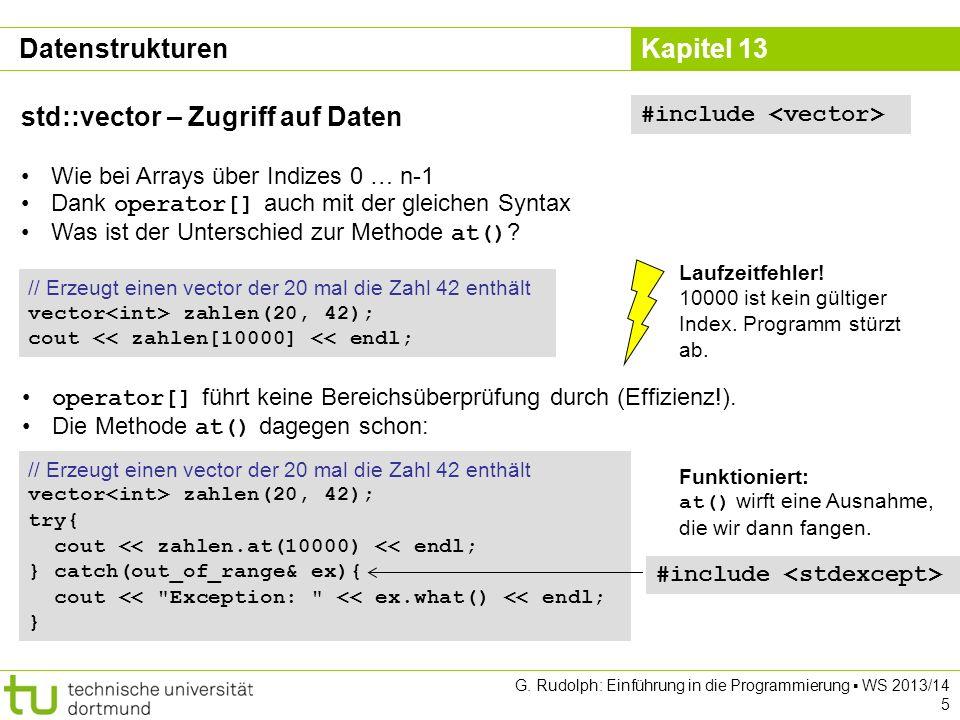 std::vector – Zugriff auf Daten