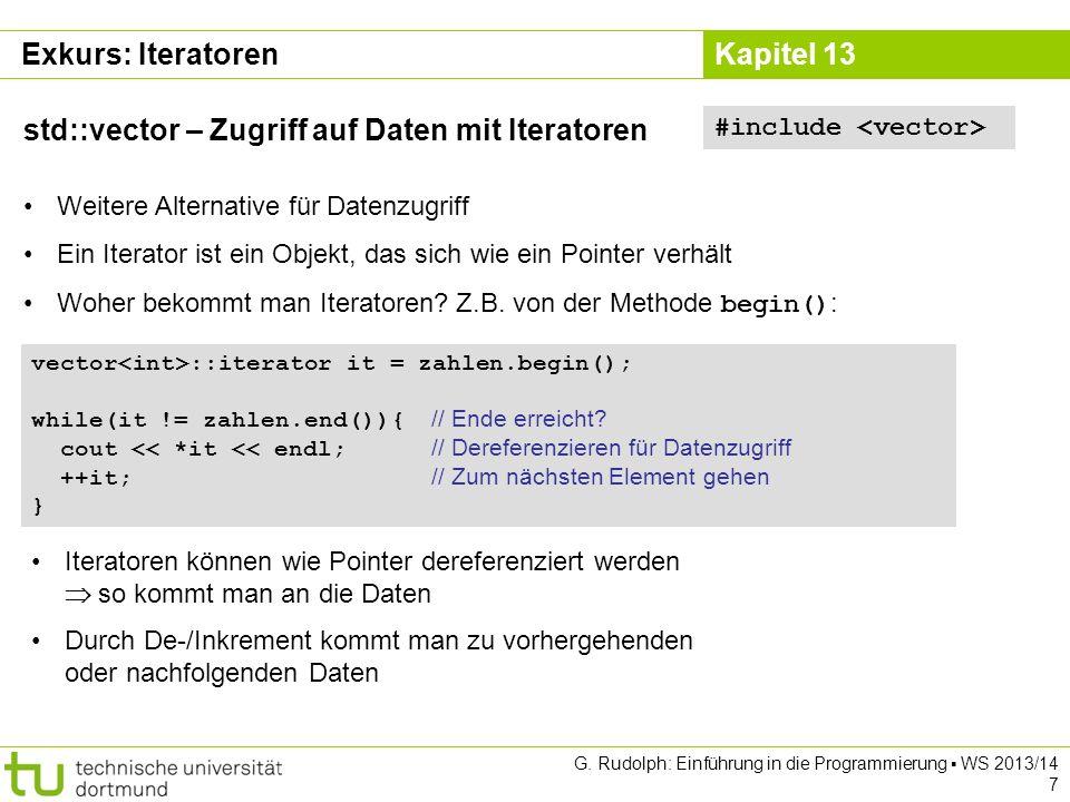 std::vector – Zugriff auf Daten mit Iteratoren