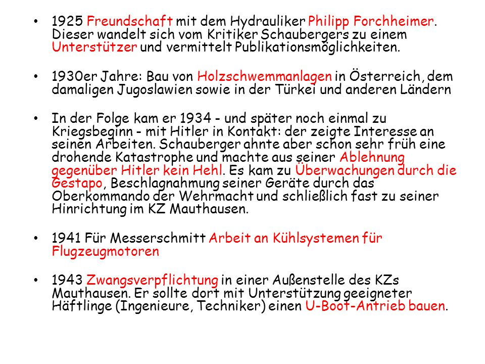 1925 Freundschaft mit dem Hydrauliker Philipp Forchheimer