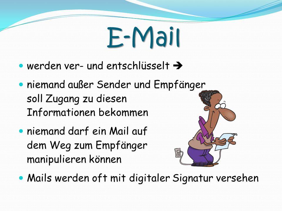 E-Mail werden ver- und entschlüsselt 